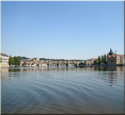 view to the Charles Bridge